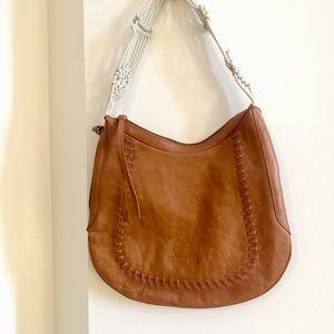 Kenneth Cole macrame handle shoulder bag